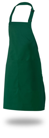 "Bib Apron 28"" X 33"" Poly/Cotton Self Adjustable Neck Band With Pocket"