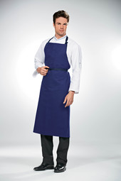Bragard Travail Apron 105 x 110cm Cotton/Linen Blue