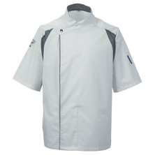 Le Chef DE12 Staycool Tunic White With Grey Coolmax Panels