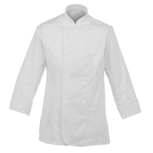 Lady's Chefs Jacket White With New Capped Studs