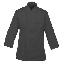 Lady's Chefs Jacket Black With New Capped Studs