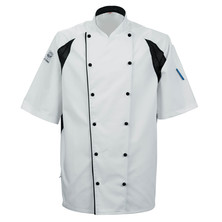 Le Chef DE11A Staycool Jacket With New Capped Studs White With Black Coolmax Panels