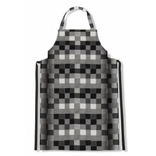 Le Chef DF76A Bib Apron Big Check Grey