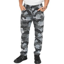 Le Chef DF22N Prep Slim Fit Trousers Black Camoflage