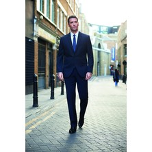Gents Suit Trousers Polyester Navy