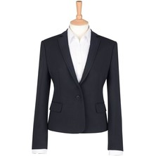 Lady's Suit Jacket Polyester Navy