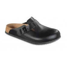 Super Grip Birkenstock Boston Clog Black