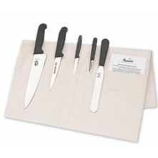 Knife Set Victorinox Medium With 20cm Deep Cooks Knife In Cotton Wallet