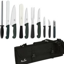 Knife Set Smithfield Large With 20cm Deep Cooks Knife In KC210 Case