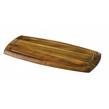 Acacia Wood Reversible Serving Board 36cm X 18cm X 2cm
