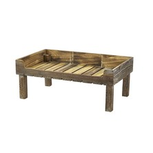 Rustic Wooden Display Crate On Legs 53cm X 32cm X 21cm