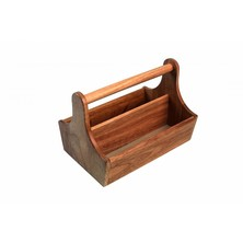 Acacia Table Tidy 250mm X 179mm X 80mm