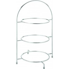 Chrome Plate Stand 3 Tier 43cm To Hold 3 X 26cm Plates