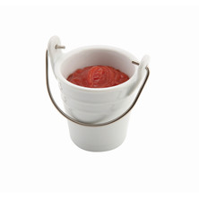 Serving Bucket Porcelain With S/S Handle 6.5cm Dia / 10cl / 3.5oz