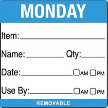 Removable Food Rotation Label (Roll 500) Monday