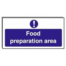 Food Hygiene Sign Food Preparation Area