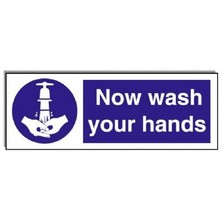 Food Hygiene Sign Now Wash Your Hands