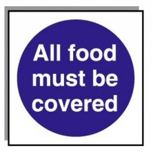 Food Hygiene Sign All Food Must Be Covered