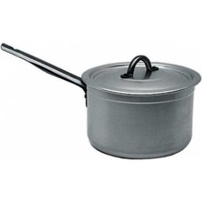 Saucepan Genware Aluminium Medium Duty With Lid 22cm