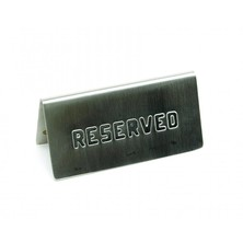 Reserved Sign Stainless Steel (pack Of 6)