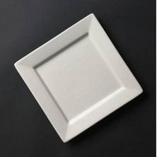 Royal Genware Fine China Square Plate 24cm (box Of 6)