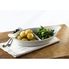 Royal Genware Divided Vegetable Dish 32cm (box Of 4)