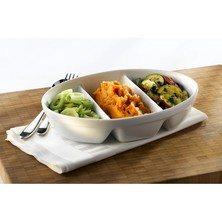 Royal Genware 3 Division Oval Dish 24cm (box Of 4)