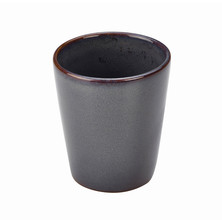Rustic Stoneware Conical Cup 10cm Blue
