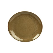 Terra Stoneware Oval Plate Brown 29½cm X 26cm