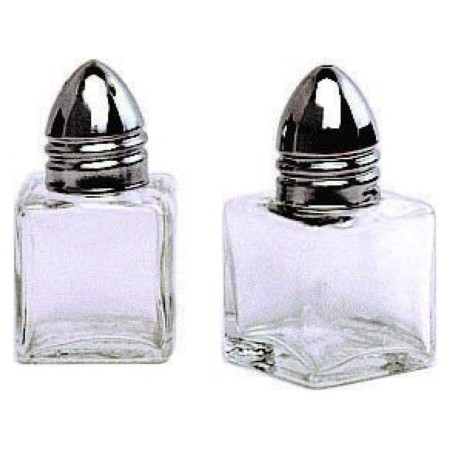 Salt Amp Pepper Shaker Set Glass Mini