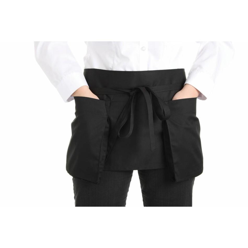 White half apron ruffle uk - Waist Apron Double Pocket Black