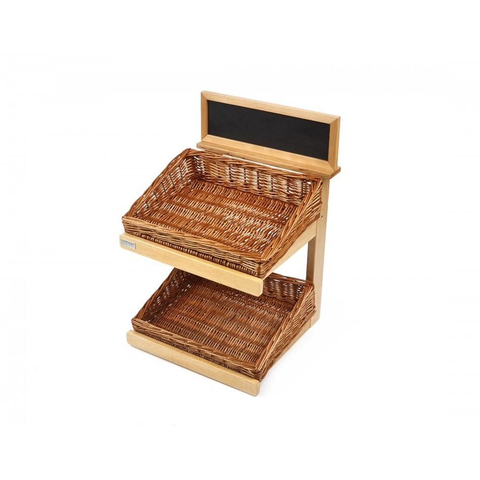 Wooden display stand tier cm