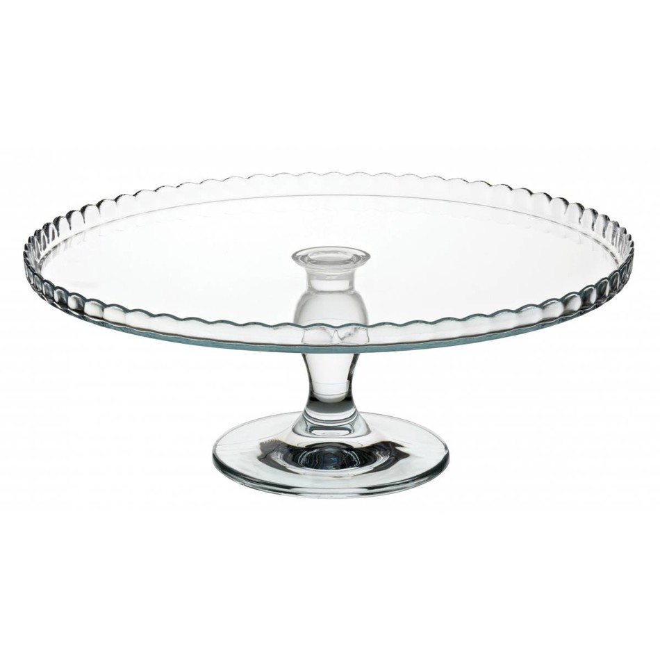 Glass Footed Cake Plate