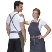Cross Over Back Bib Apron Poly/Cotton DP130