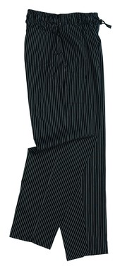 Unisex Chefs Trouser Poly/Cotton Printed Pinstripe