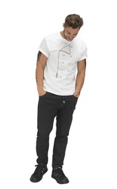 Le Chef DE107 Printed T-shirt White