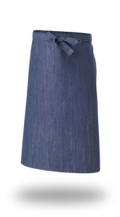 Denim Straight Top  Apron Cross Dyed
