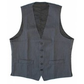 Waistcoat Lady's Black/grey Lined Poly/wool