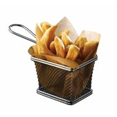 Mini Chip Frying Basket Rectangular 10cm X 8cm X 7.5cm