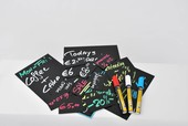 Chalk Tags 10.4cm X 7.4cm (Pack Of 20) & 1 White Chalk Marker