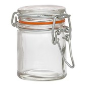 Preserve Jar Mini Glass Clip Top Round 50ml