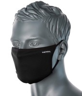Fabric Face Mask Washable 3 Ply Black