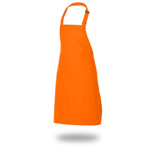 "Bib Apron 34"" X 33"" Poly/Cotton Self Adjustable Neck Band"