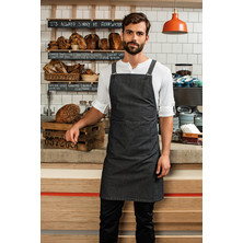 Cross Back Barista Bib Apron