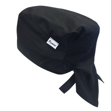 Zandana Chefs Hat Poly/Cotton Black