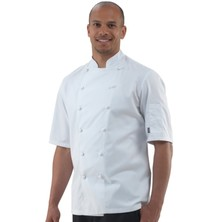 Le Chef DE47ES Pima Cotton Jacket **Short Sleeves**