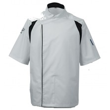 Le Chef DE12 Staycool Tunic White With Black Coolmax Panels