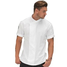 Le Chef DE50S Contract White Tunic Top **Short Sleeves**