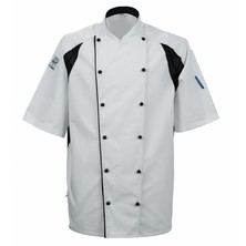 Le Chef DE11A Staycool Jacket White With Black Coolmax Panels