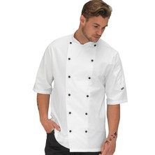 Le Chef DE92GS Contract Executive Jacket White Short Sleeves